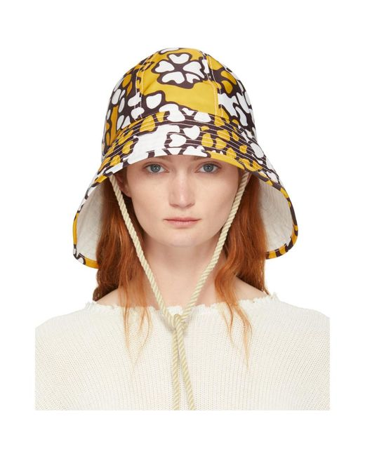 1e266d9d8011b 3.1 Phillip Lim - Multicolor Orange Printed Sporting Bucket Hat - Lyst ...