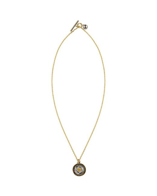 Versace | Metallic Gold & Silver Round Medusa Tag Necklace for Men | Lyst