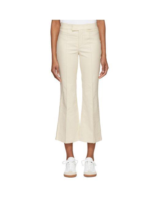 Isabel Marant | Natural Ecru Lyre Trousers | Lyst