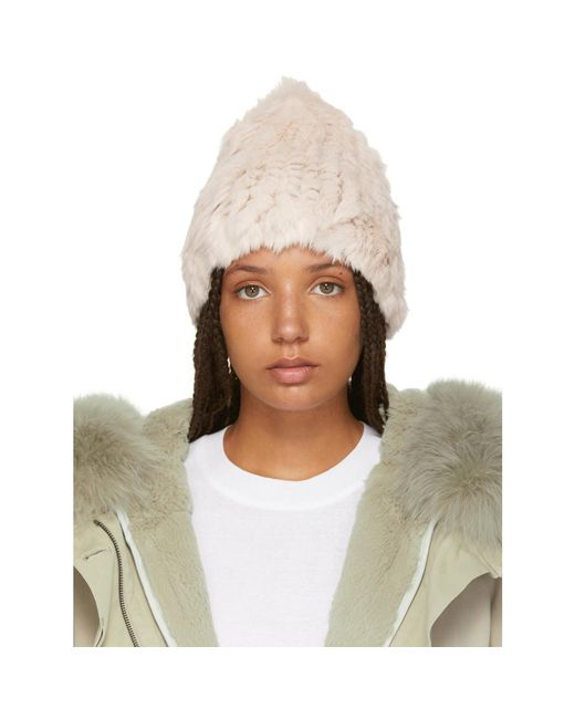 Yves Salomon - Multicolor Pink Knitted Rabbit Beanie - Lyst