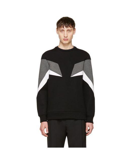 Neil Barrett - Black Tricolor Modernist Sweatshirt for Men - Lyst