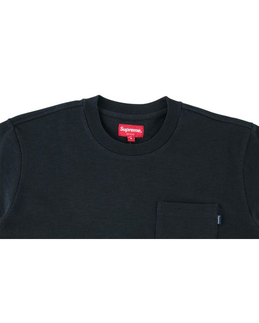 14b9b06fd Lyst - Supreme Pocket Tee in Blue for Men - Save 54%