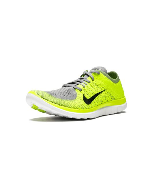b9e3fe56d1a34 Nike Free Flyknit 4.0 in Yellow for Men - Save 10% - Lyst