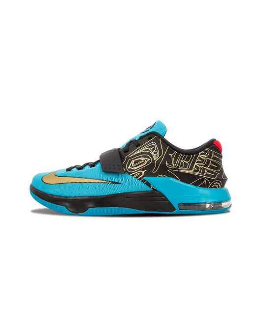 33510ccf96ad Lyst - Nike Kd Vii N7 Dark Turquoise metallic Gold in Blue for Men ...