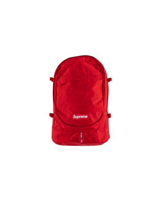 Supreme Red Backpack Lyst