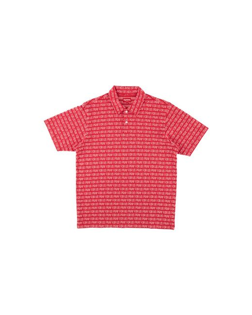 c8e0e2e00e3 Supreme Pray For Us Jacquard Polo  ss 18  in Red for Men - Save 29 ...