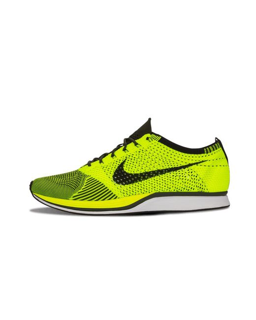 00d221fccfe37 Lyst - Nike Flyknit Racer in Yellow for Men - Save 10%