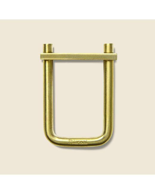 Miansai - Yellow Flat Tension Keychain - Brass for Men - Lyst