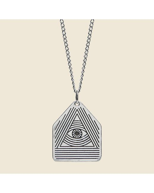 Lhn Jewelry - Metallic All Seeing Eye Pendant - Silver for Men - Lyst