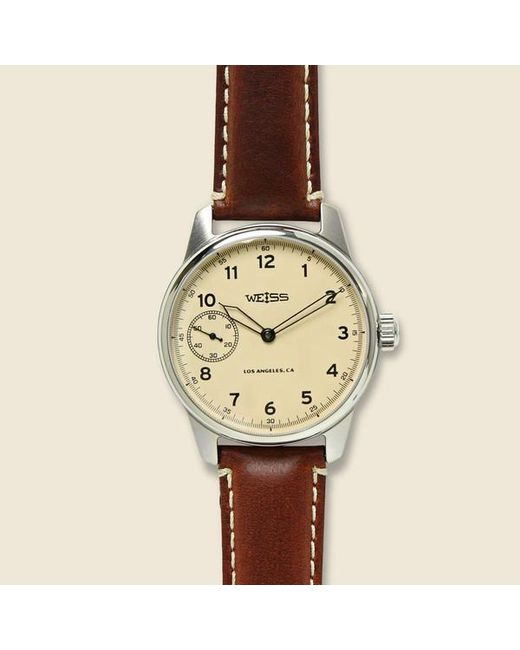 658c99165 Weiss - Natural Special Edition Field Watch - Latte/brown for Men - Lyst ...