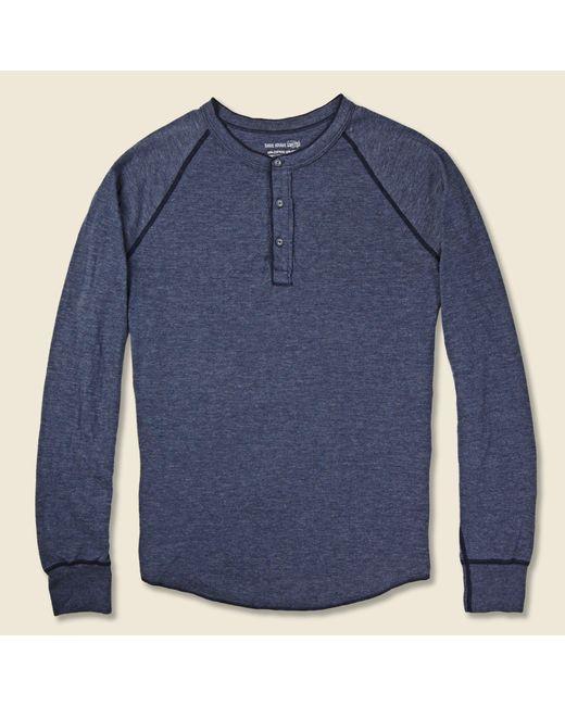 Save Khaki - Blue Pointelle Henley - Navy for Men - Lyst