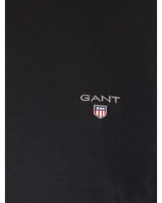 c707c1c06c2175 ... Gant - Black The Original Solid T-shirt T Shirt for Men - Lyst ...