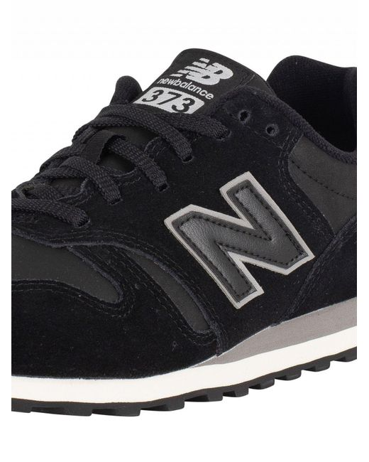 73cfc312e43e6 ... New Balance - Black/grey 373 Suede Trainers for Men - Lyst ...