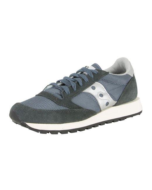 3ac4460d3762 ... Saucony - Blue navy silver Jazz Original Vintage Trainers for Men -  Lyst ...