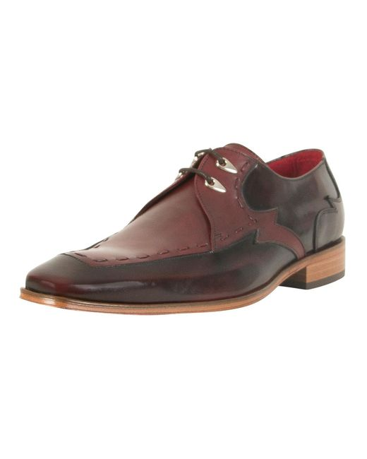 Jeffery West - Brown College Burgundy/toledo Burgundy Scarface Polished Leather Shoes for Men - Lyst