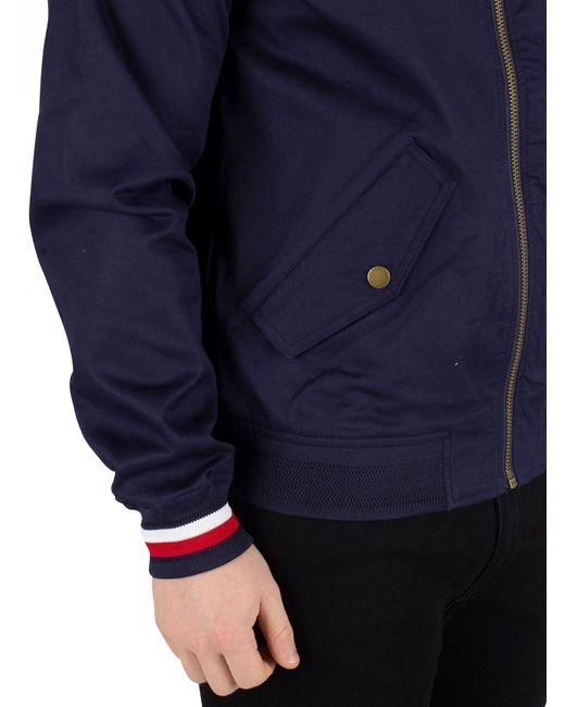 7daec170 ... Tommy Hilfiger - Maritime Blue Icon Cotton Harrington Jacket for Men -  Lyst ...
