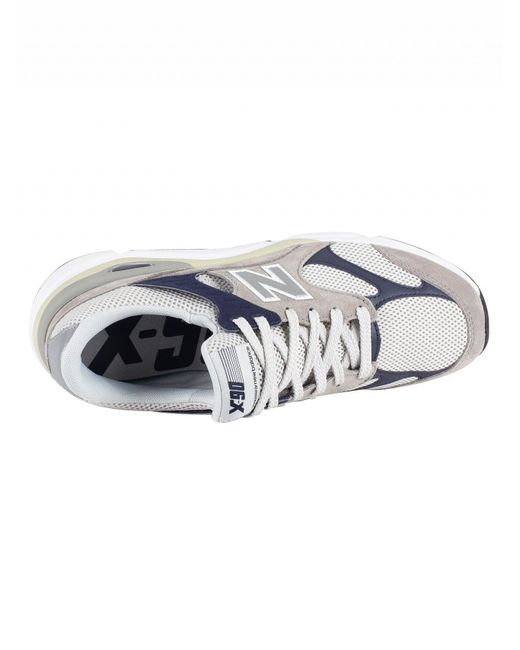 b5cdc7ca04 ... New Balance - Gray Grey/navy X-90 Suede Trainers for Men - Lyst ...