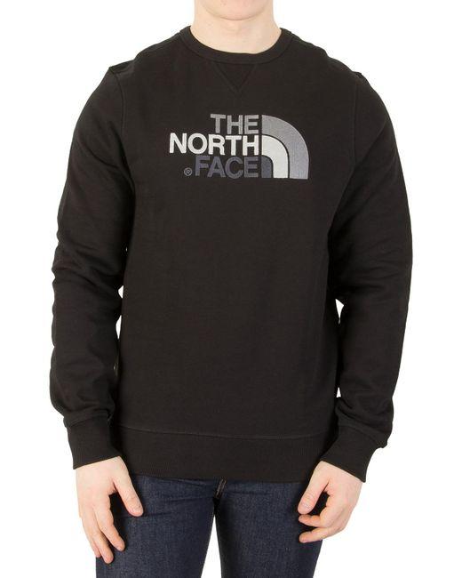 The North Face - Black Drew Peak Sweatshirt for Men - Lyst