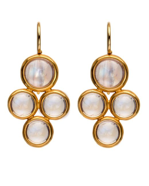 Darlene De Sedle - Metallic 22k Rainbow Moonstone 4 Bezel Drop Earrings - Lyst