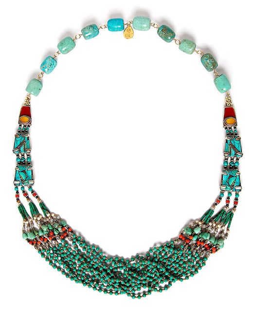 Devon Leigh | Multicolor Turquoise, Coral, And Jade Necklace | Lyst