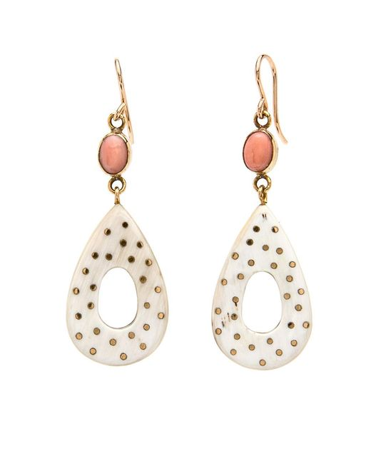 Ashley Pittman | Multicolor Bendi Light Horn With Coral Earrings | Lyst