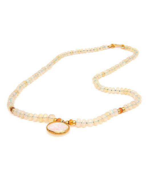 Darlene De Sedle   Metallic African Opal With Opal Pendant Necklace   Lyst
