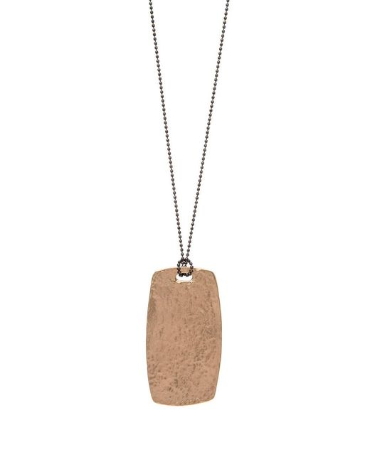 Julie Cohn | Metallic Bronze Tablet Pendant Necklace | Lyst
