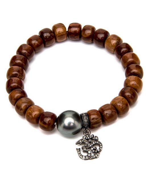 Loree Rodkin | Brown Wood Beaded Bracelet | Lyst