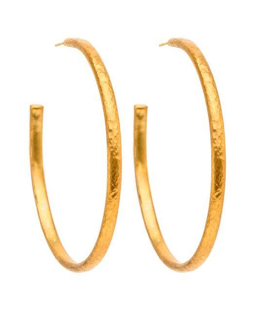 Yossi Harari | Metallic Mica Hoop Earrings | Lyst