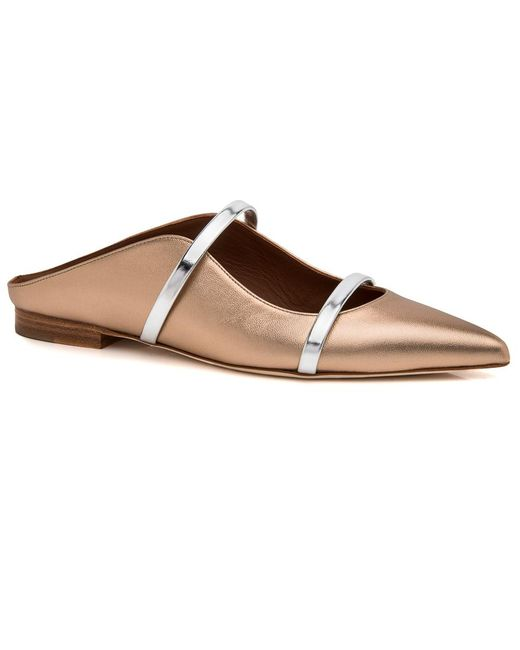 Malone Souliers - Metallic Gold And Silver Maureen Flat - Lyst