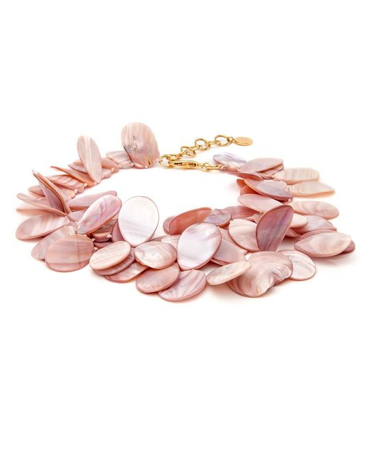 Nest | Pink Mother Of Pearl Cluster Necklace | Lyst