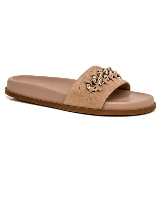 Valentino | Natural Camel Rose Chain Slide | Lyst