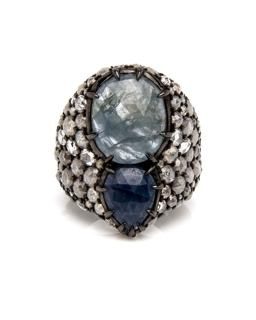 Loree Rodkin | Multicolor Pear Shaped Sapphire And Diamond Ring | Lyst