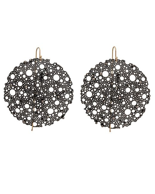 Ted Muehling | Multicolor Oxidized Small Queen Anne Lace Earrings | Lyst