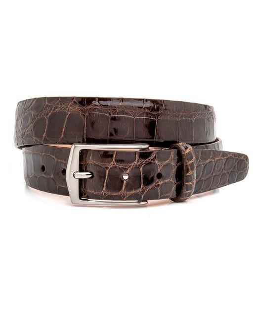 Martin Dingman | Brown Chocolate Alligator Julian Belt for Men | Lyst