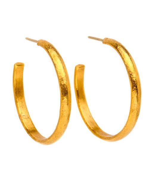 Yossi Harari | Metallic Mica Gold Hoop Earrings | Lyst