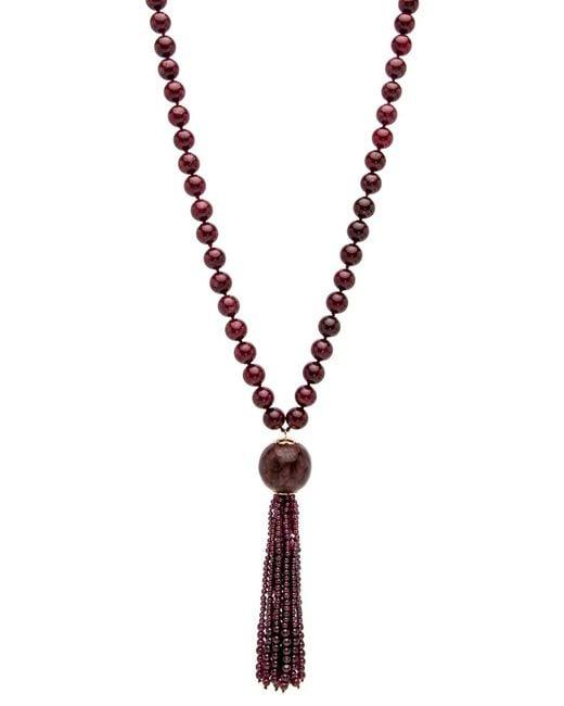 Silvia Furmanovich - Multicolor Marquetry Tassel Garnet Beaded Necklace - Lyst