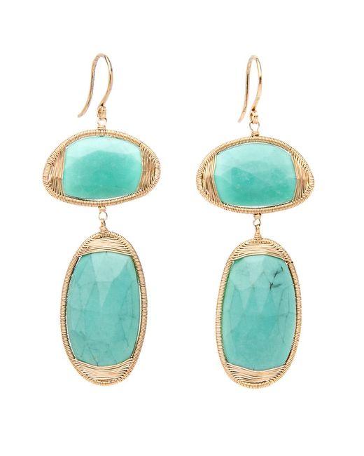 Dana Kellin Fine Jewelry - Blue Double Drop Turquoise Earrings - Lyst