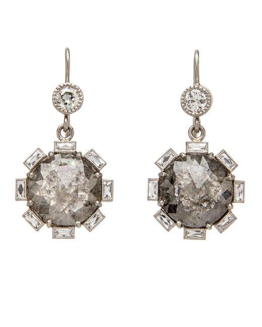 Sylva & Cie - Multicolor Rough Cut Diamond Petal Earrings - Lyst