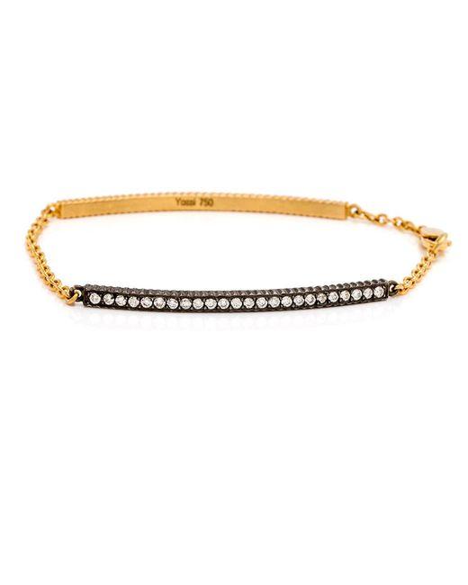 Yossi Harari - Metallic Lilah Id Diamond Bracelet - Lyst