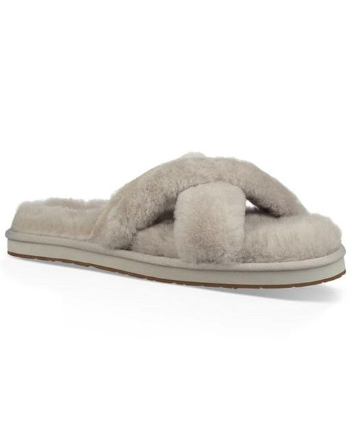 dd41a8875047 Lyst - UGG Willow Abela Slipper Sandal in Gray - Save 64%