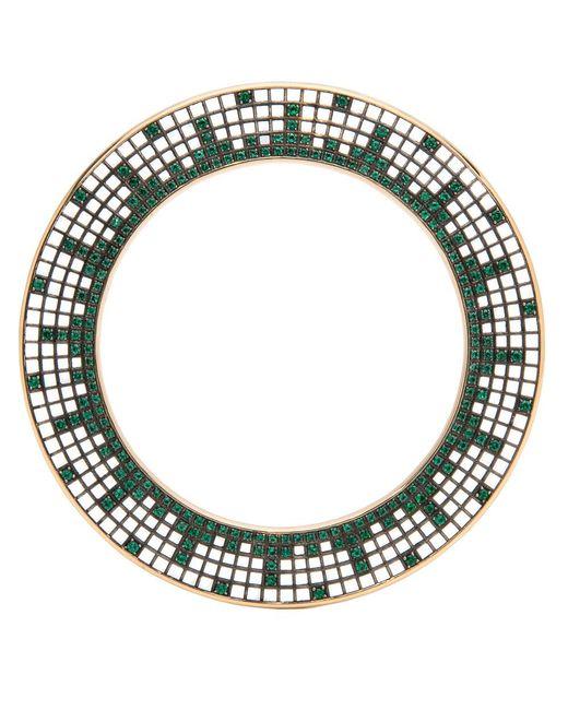 Roule & Co. - Green Brilliant Cut Emerald Halo Bangle - Lyst