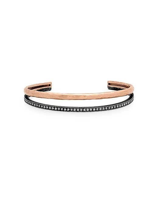 Nancy Newberg | Metallic Oxidized Silver And Rose Gold Double Bangle | Lyst