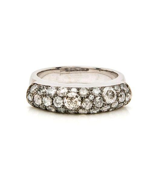 Sylva & Cie - Gray Grey Diamond Saddle Ring - Lyst