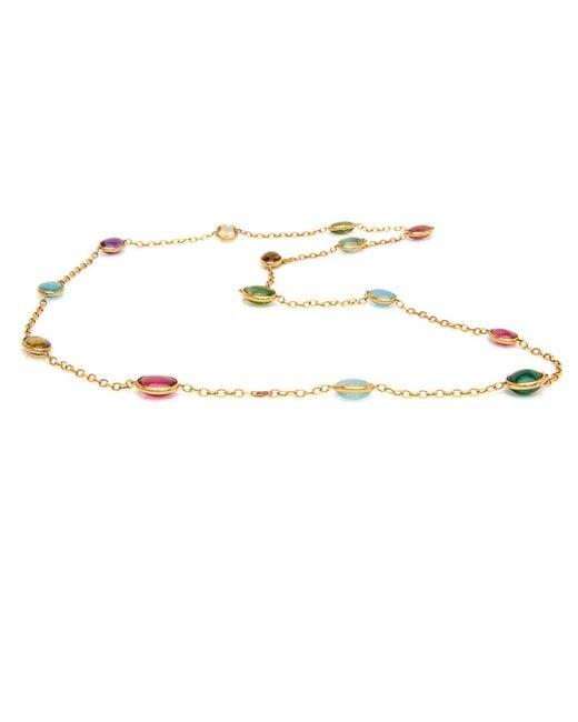 Darlene De Sedle - Multicolored Cabochon Tourmaline Stone Necklace - Lyst