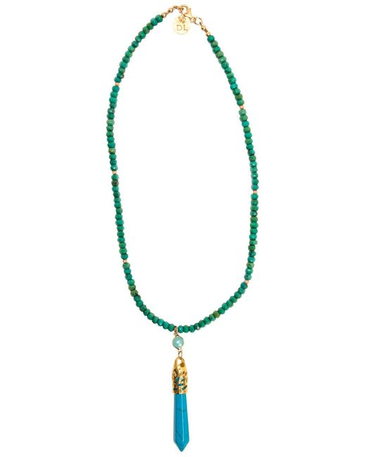 Devon Leigh - Blue Turquoise Beaded Necklace With Turquoise Spike - Lyst