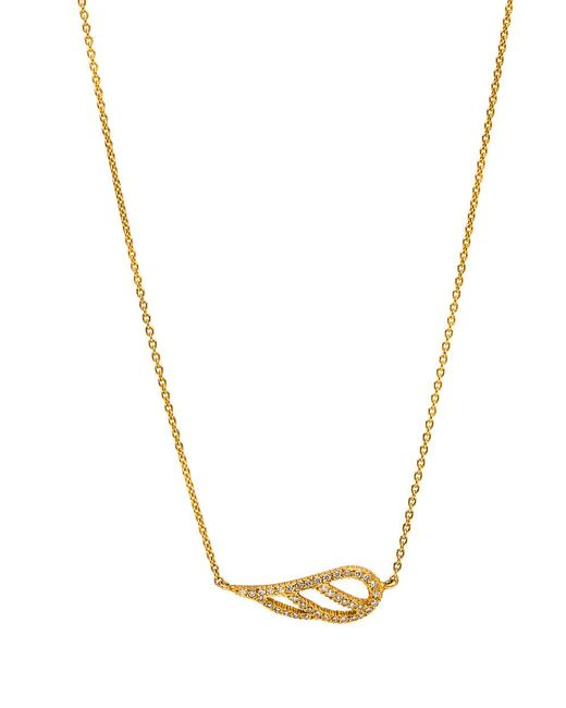 Yossi Harari - Metallic Diamond Wing Pendant Necklace - Lyst