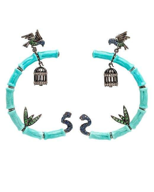 Wendy Yue | Blue Turquoise Bird Cage Earrings | Lyst