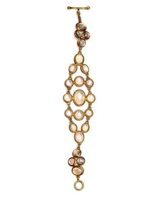 Darlene De Sedle - Metallic Rainbow Moonstone Mesh Bracelet - Lyst