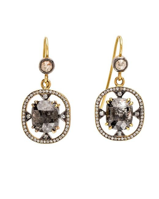 Sylva & Cie - Multicolor Rough Cut Diamond Earrings - Lyst